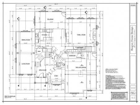 sample design plan first floor