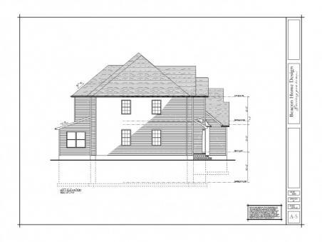 sample design plan left elevation