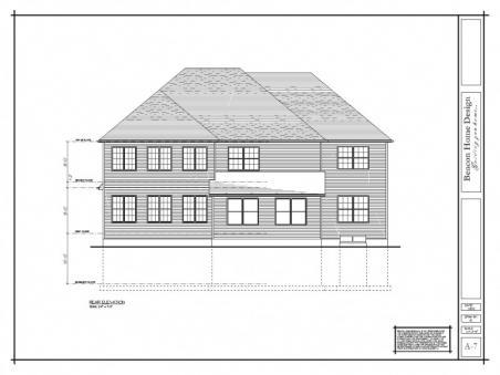 sample design plan rear elevation