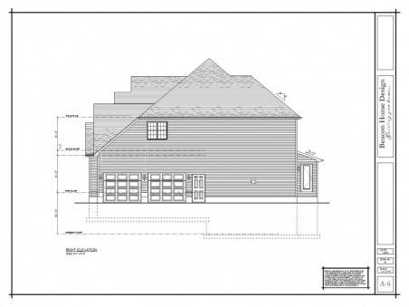 sample design plan right elevation